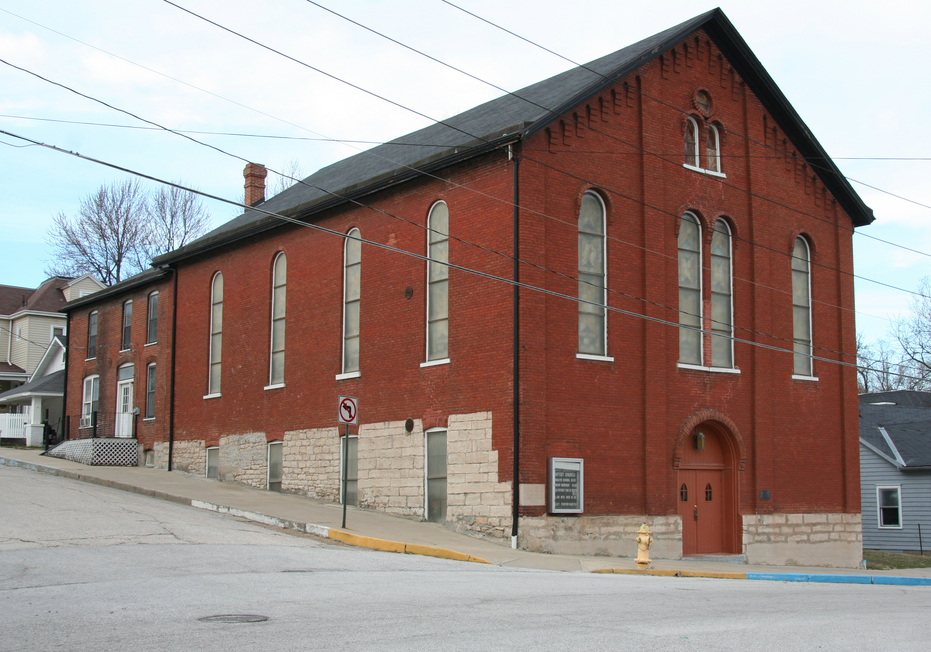 The Eighth and Center Streets Baptist Church was built in 1872, replacing the first one built in 1853. The church is an important religious and social gathering place for the African American community.