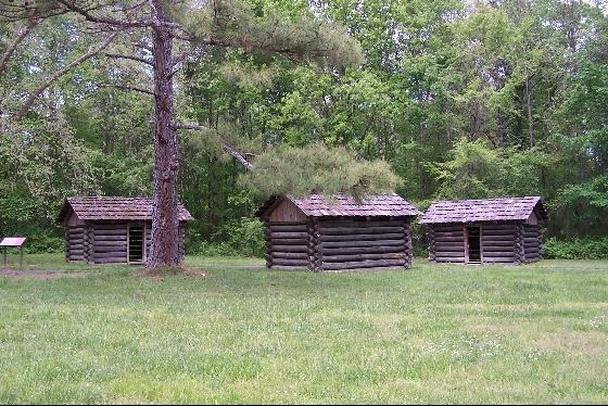 Sleeping Huts for the Cherokee Council