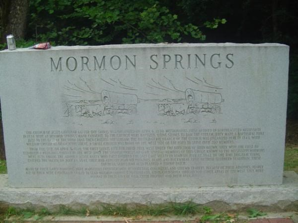 Mormon Springs Monument
