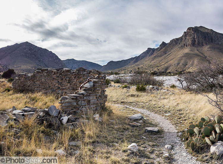 Pinery Station ruins, Guadalupe Mountains, TX. Photo courtesy of the National Park Service