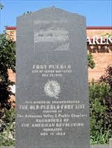 Marker commemorating the 1854 Fort Pueblo Massacre