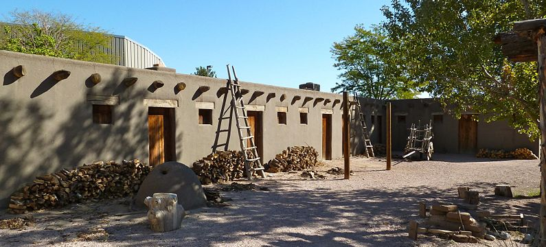 El Pueblo Museum today. Made to look like the old Fort Pueblo, on which grounds the museum now sits.