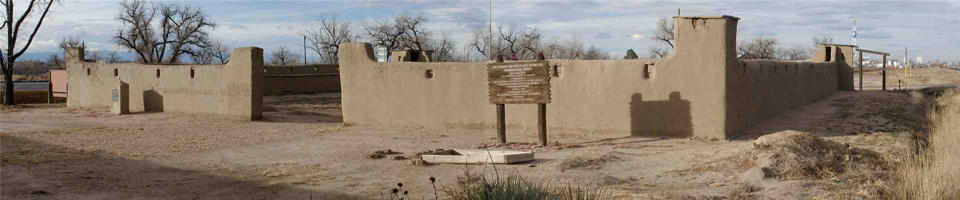 The reconstructed adobe replica of Fort Vasquez.