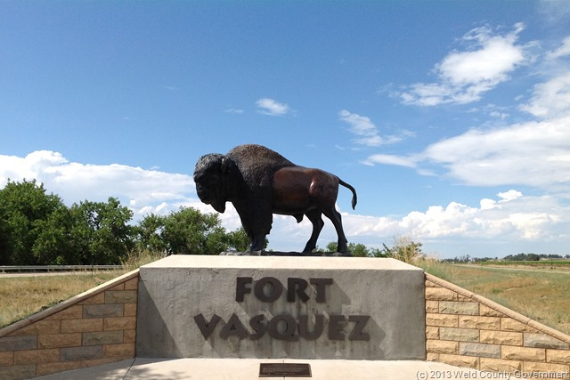 Life size bison sculpture constructed in 2005.