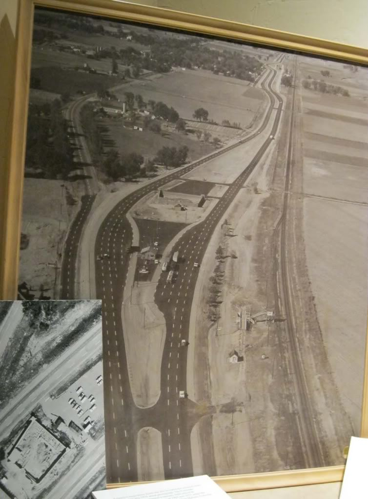 Aerial view of Fort Vasquez between the roads. Photo courtesy of J-ecollections (blog)