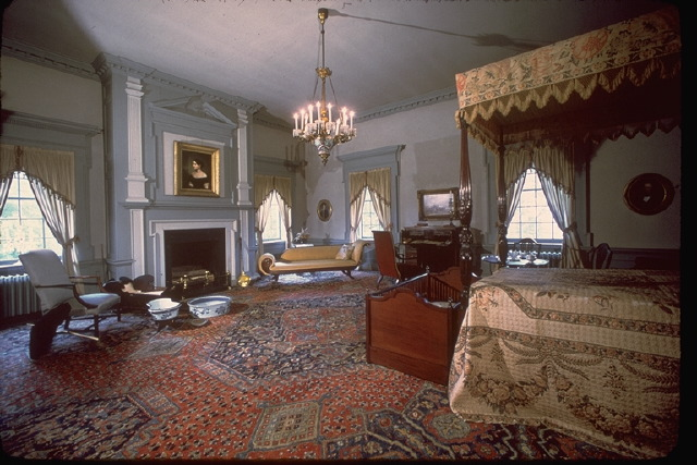 Mansion bedroom with original furnishings