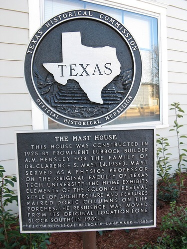 The Mast House historical marker