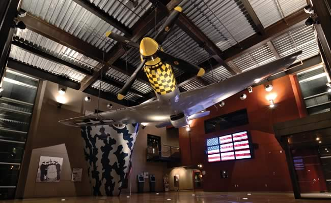 Inside the Sullivan Brothers Iowa Veterans Museum.