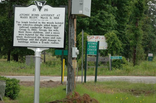 Mars Bluff historic marker
