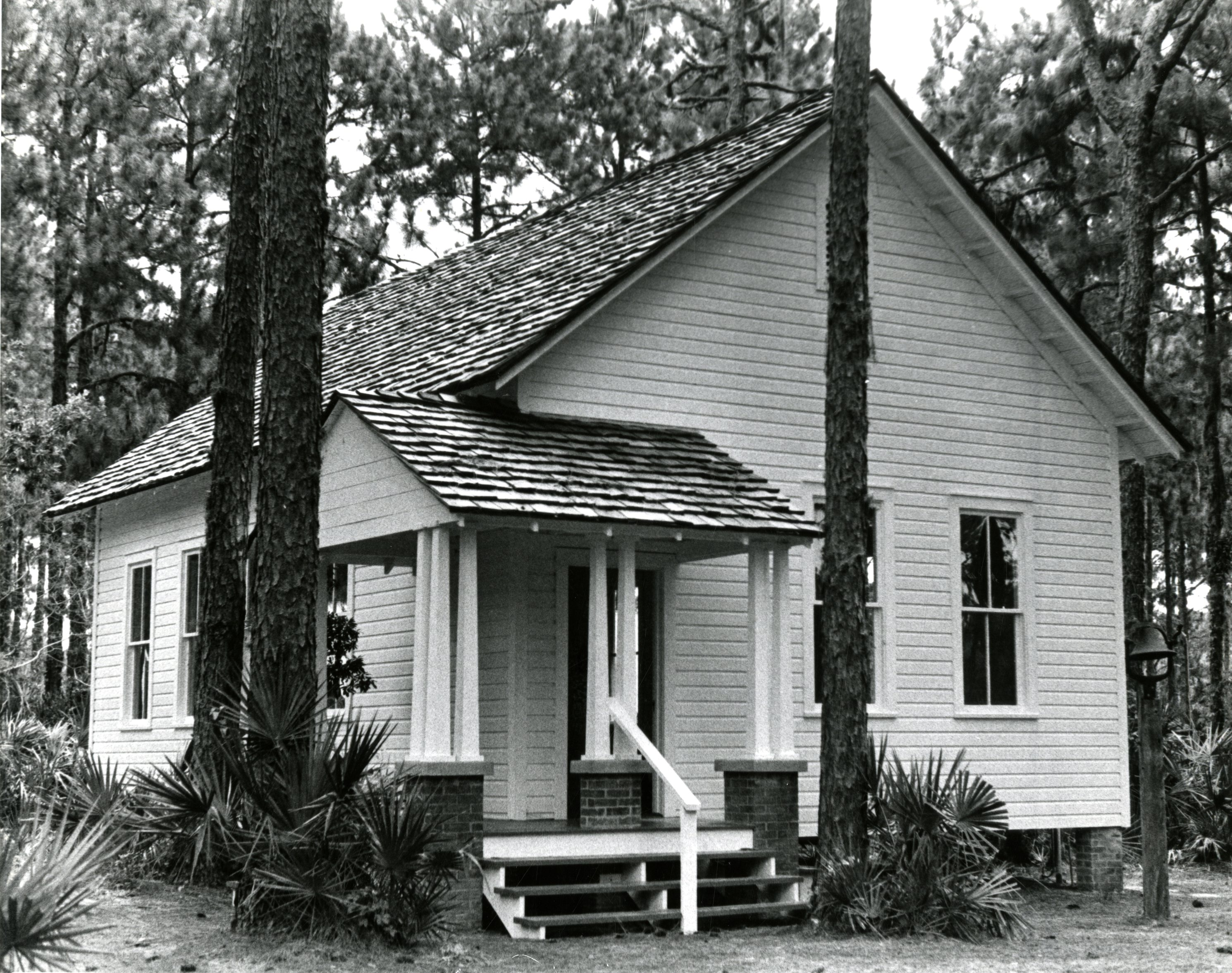 Completed Harris School replica at Heritage Village, Largo, Florida, May 10, 1987.
