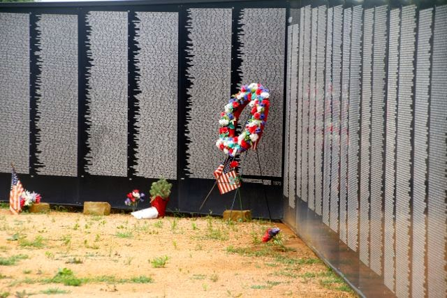 This is the wall of soldiers names that fought and died in the Vietnam War.