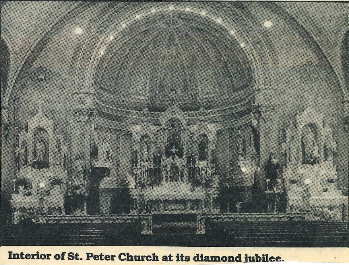 Interior of St. Peter's Church, 1990.