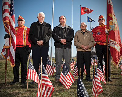 Delaware Veterans at armed forces memorial
