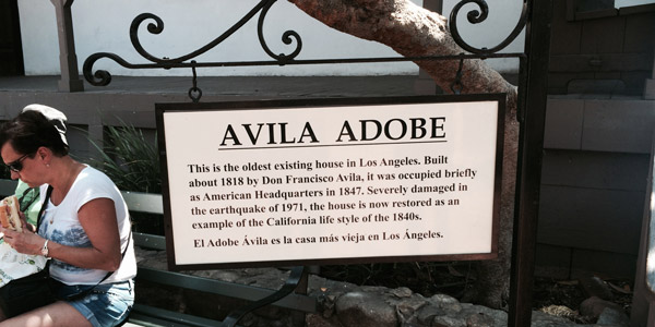 Avila Adobe is registered as California Historical Landmark #145. It is part of the Los Angeles Plaza historic district, listed on the National Register of Historic Places.