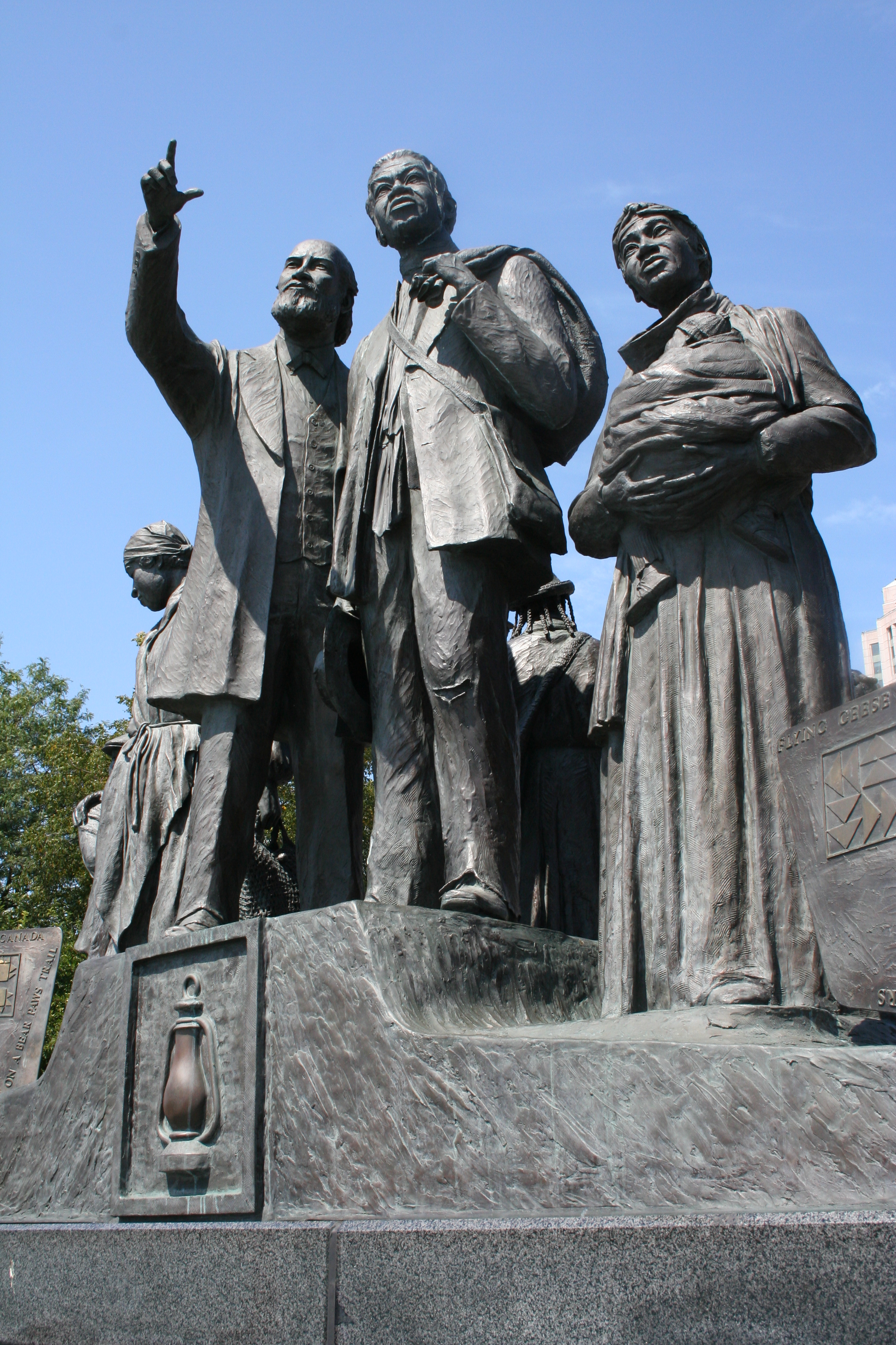 Front side of the Gateway to Freedom International Memorial to the Underground Railroad