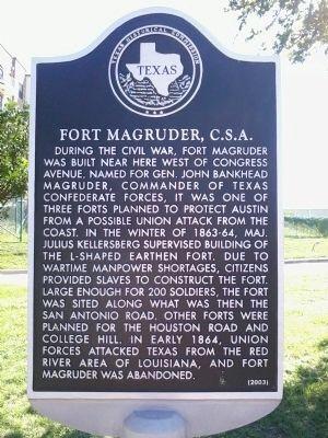 Fort Magruder marker
