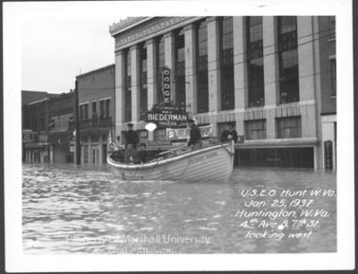 4th Avenue and 7th Street during 1937 flood
