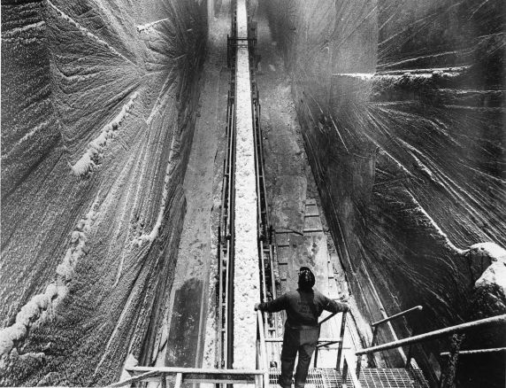 The shafts leading into the mines. Reuther Library/Tony Spina