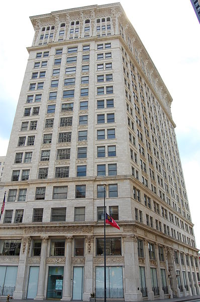The Candler Building was erected in 1906 and remains one of the more striking buildings in the city.