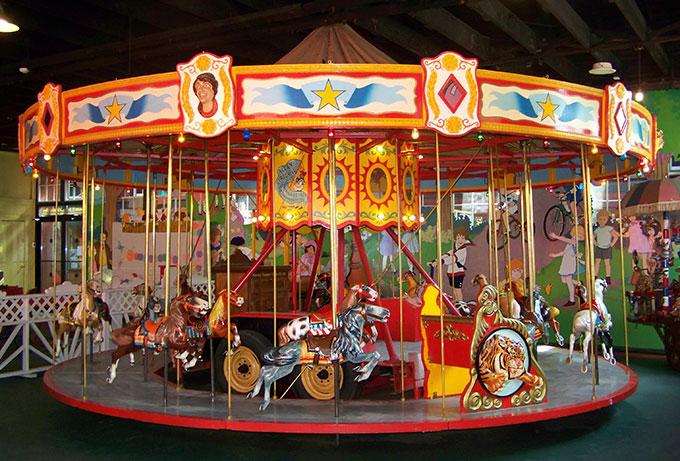 The kiddie carousel