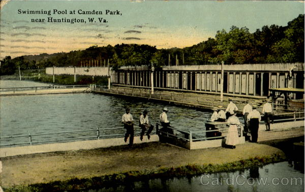 During its early days as a more traditional picnic ground, a swimming pool was one of Camden Park's features.
