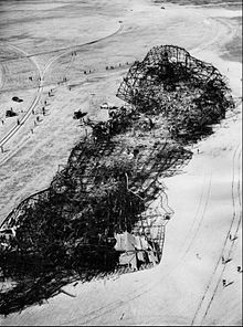 The wreckage left behind after the crash.