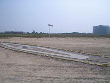 The memorial of the Hindenburg disaster, designated a Registered National Historic Landmark in 1968.  It was dedicated on May 6, 1987, the 50th anniversary of the disaster.