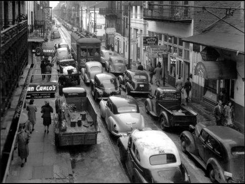 Bourbon Street in 1949