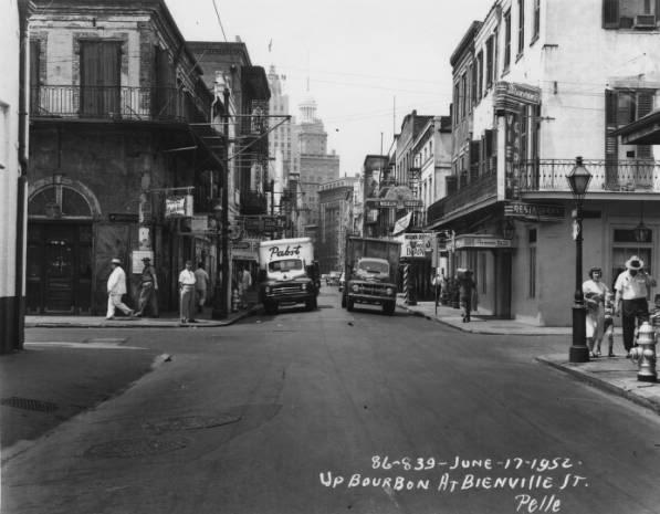 Bourbon Street in 1962