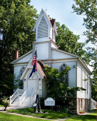 The Lewiston Museum is located in this historic church built in 1835.