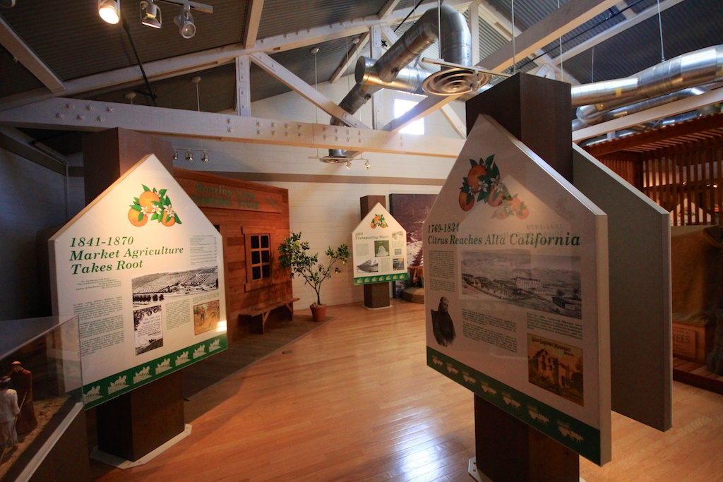 Interior of the visitor's center and museum.