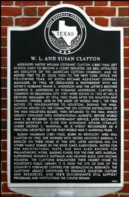 William L. and Susan Clayton historical marker