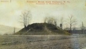 Photo from 1909 where the sacred via that led to the Kanawha River can still be seen.