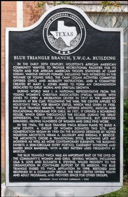 Blue Triangle Branch YWCA historical marker