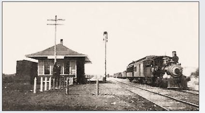 A picture of the station circa 1900