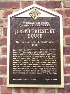 Plaque presented by the American Chemical Society in 1994.  At the time it was only the second National Historic Chemical Landmark.