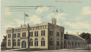 This historic photo of the armory shows how the building has changed over time.