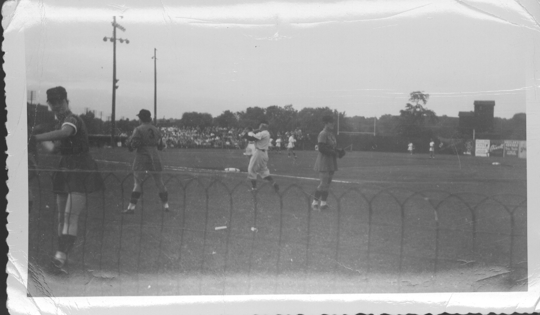 The Kalamazoo Lassies playing on Catholic Athletic Association Field (Courtesy of The History Museum, South Bend, Indiana)