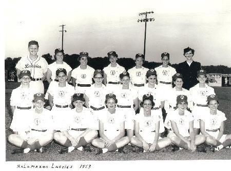 The Kalamazoo Lassies team photo, circa 1953
