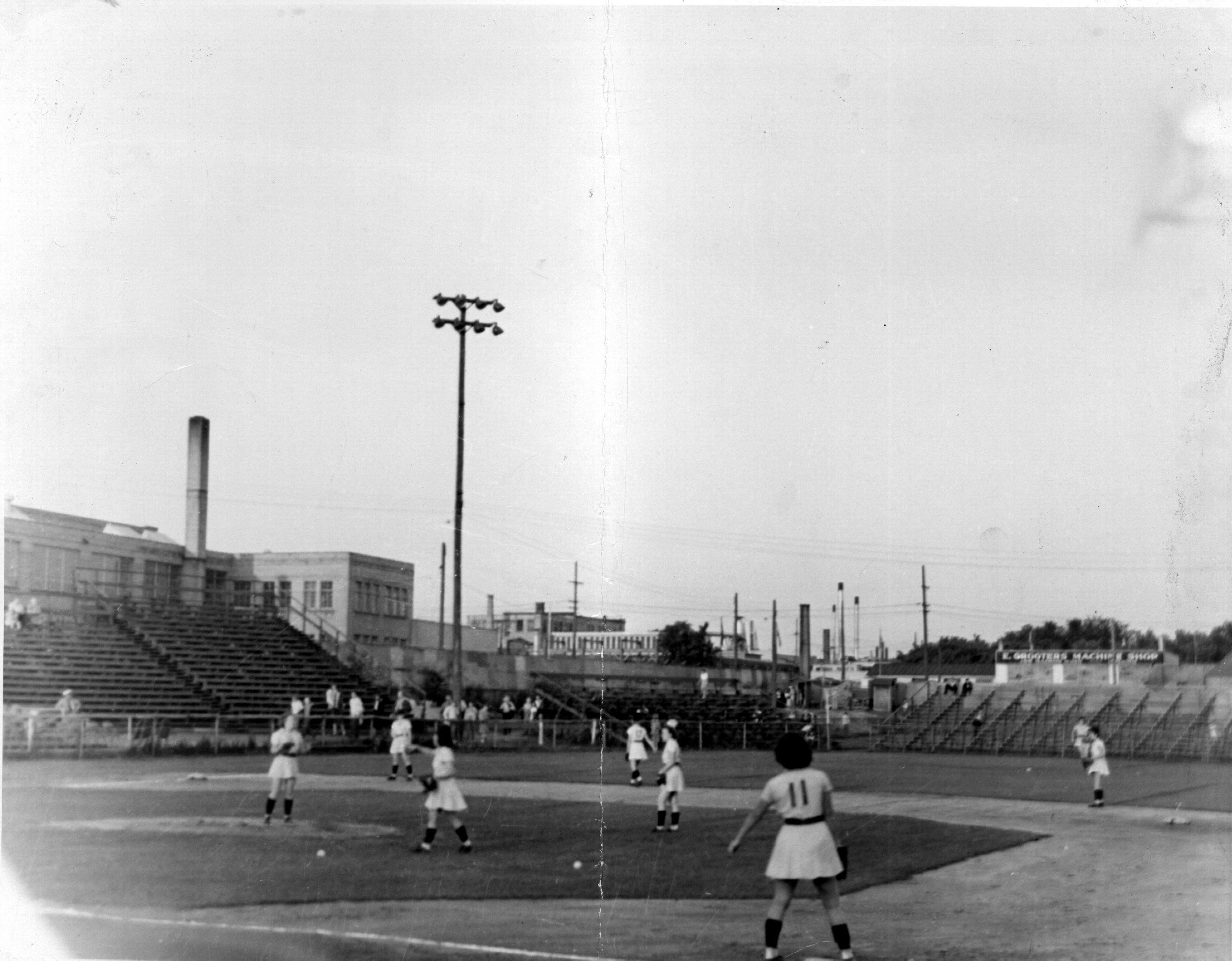 The Chicks playing at Smith Field (Courtesy of The History Museum, South Bend)