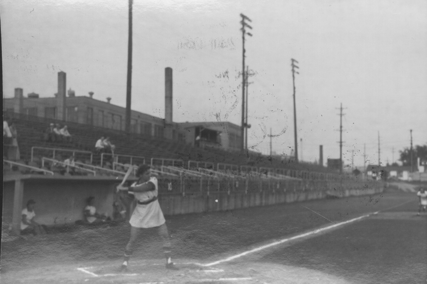 Batting at Smith Field (Courtesy of The History Museum, South Bend)