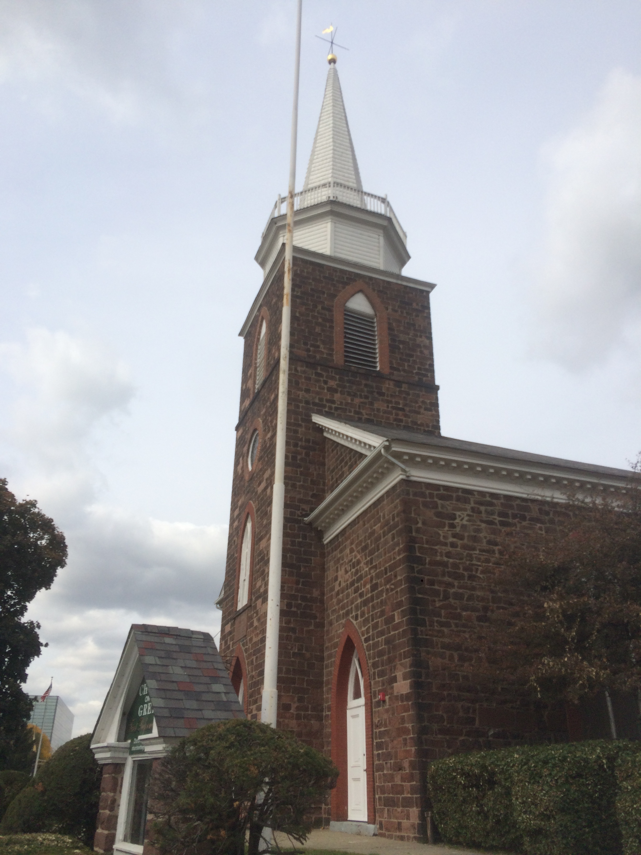 Third church building of the First Reformed Dutch Church in Hackensack, erected in 1791. (Photo credit: Angela Garra 10/27/2015)