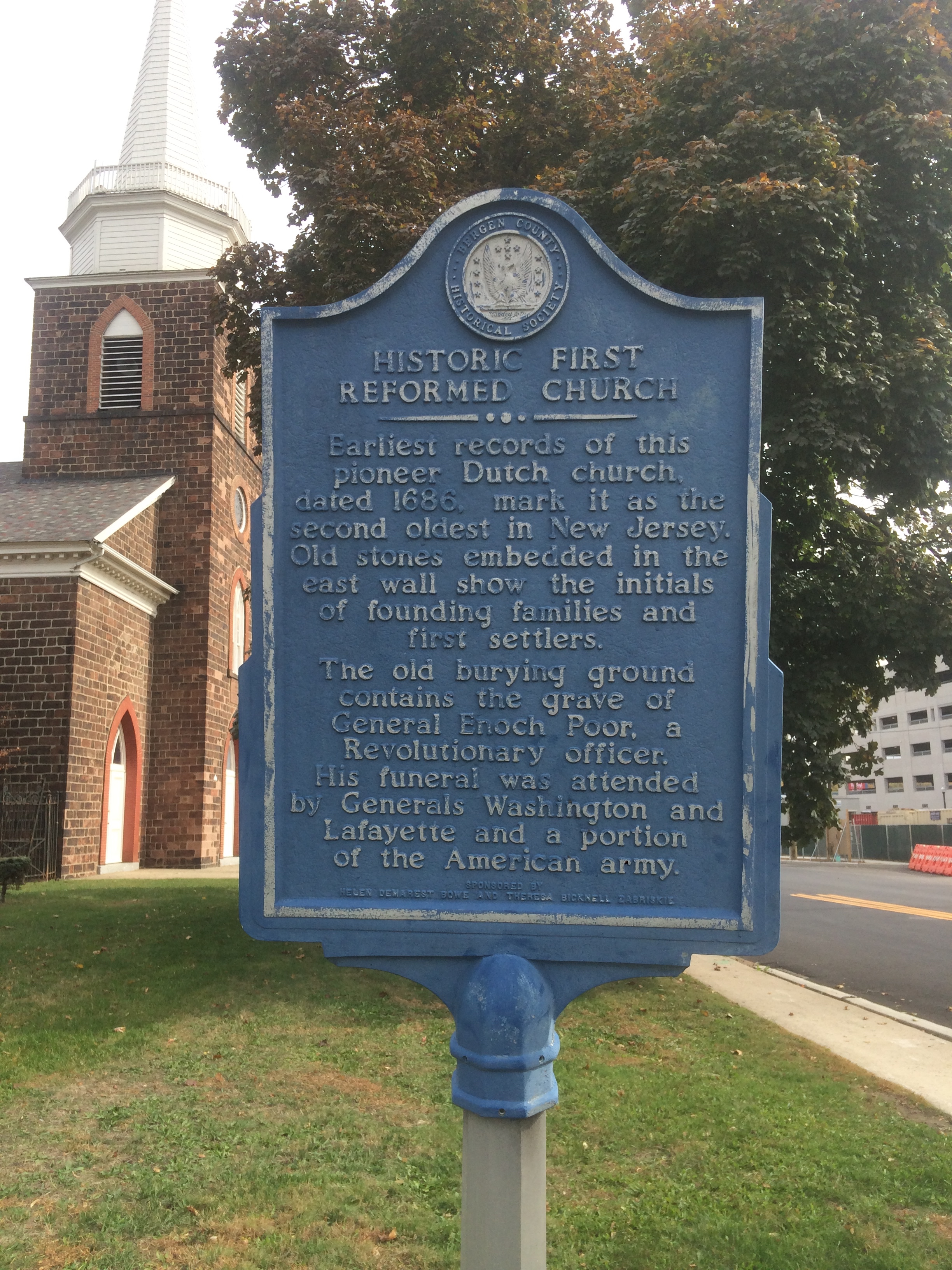 Historic marker. (Photo credit: Angela Garra 10/27/2015)