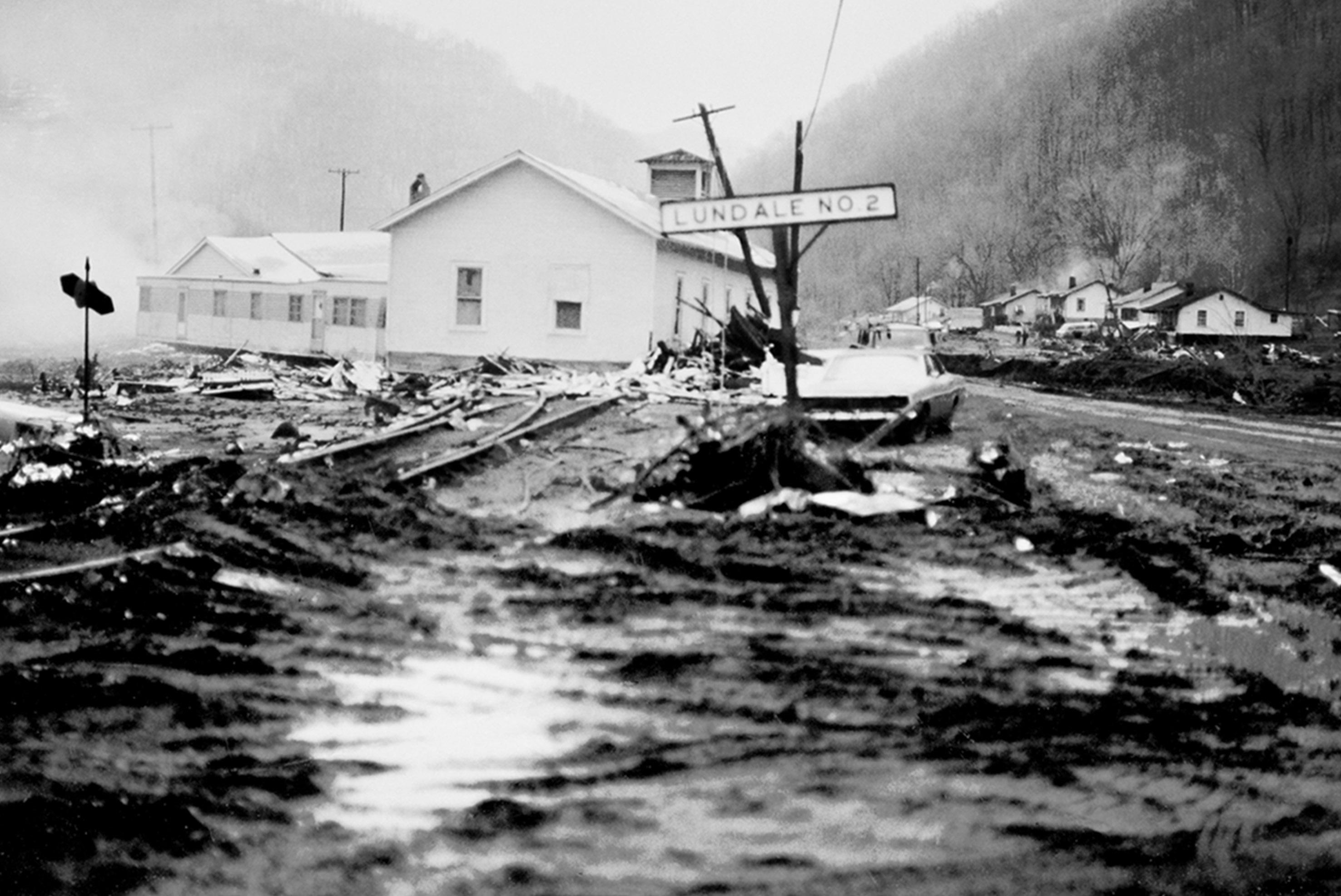 Buffalo Creek during the flood.