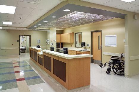 Inside of the hospital