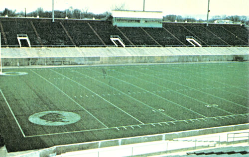 Fairfield Stadium was the home field of the Marshall football program in the 1970s.