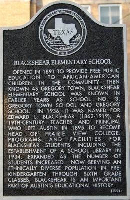 Blackshear Elementary School marker