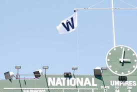 The flag that flies after every Cub home win.