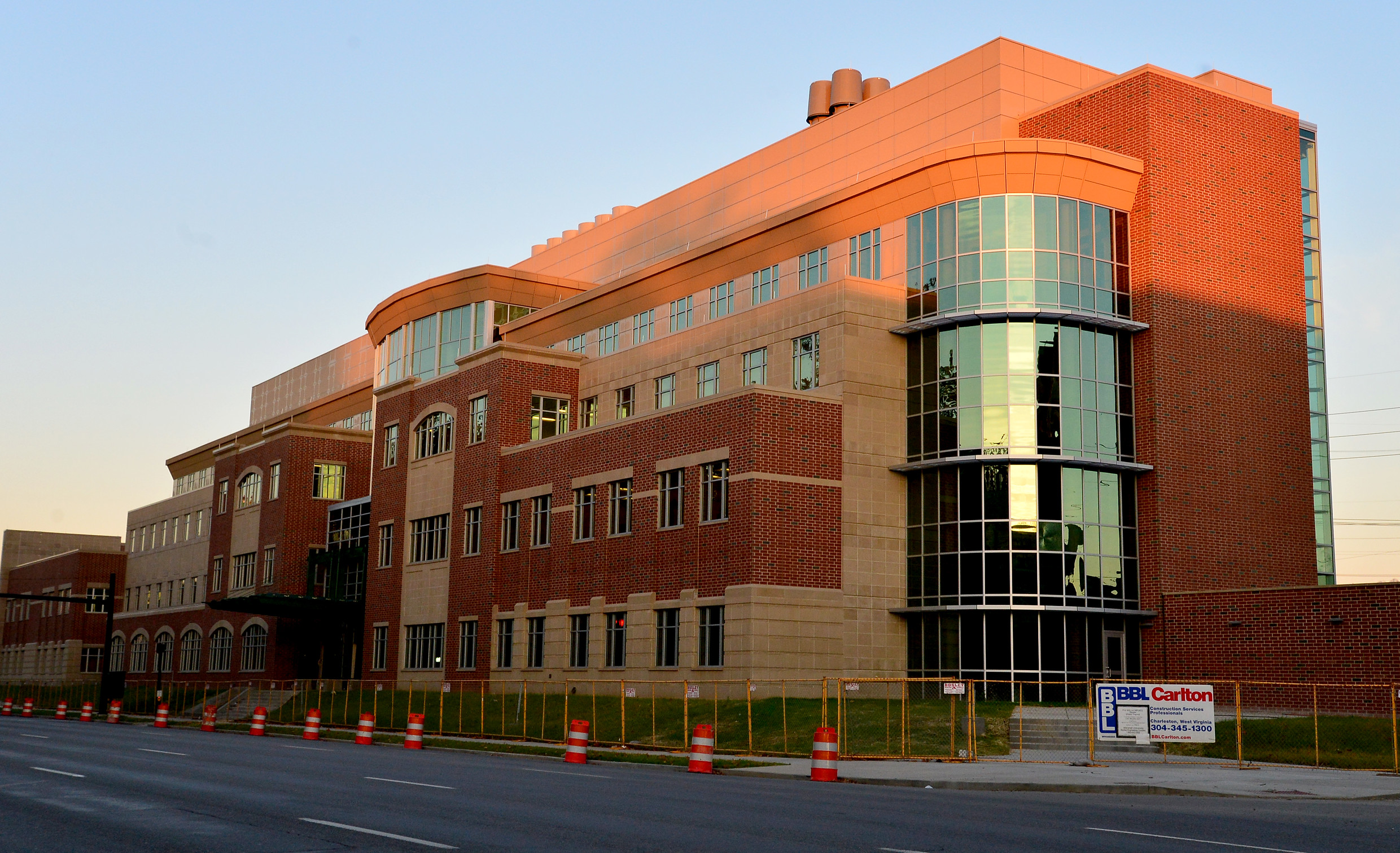The beautiful new Weisberg Family Applied Engineering Complex along 3rd Avenue in Huntington, West Virginia