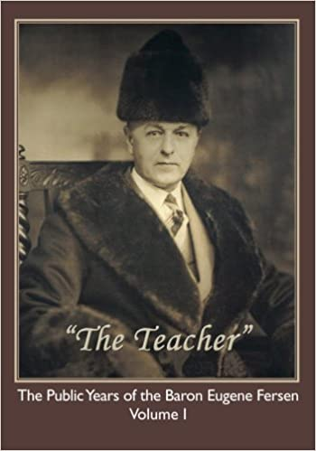 "Russian baron, and son of Czar Nicolas II, Eugene Fersen is pictured on the cover of one of his many religious teachings from the philosophical/religious group he founded, ""The Lightbearers"". Fersen bought the Parker's old residence and turned it into the headquarters for his religious group, and was famously known to have covered the home's interior with cheap red velvet that future buyers had to restore."